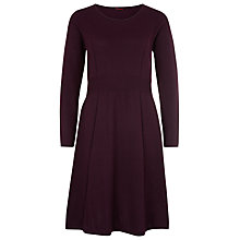 Buy Kaliko Knitted Skater Dress, Dark Purple Online at johnlewis.com