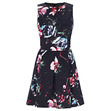 Buy Warehouse Displaced Floral Dress, Multi Online at johnlewis.com
