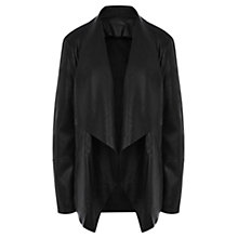 Buy Warehouse Waterfall Drape Jacket, Black Online at johnlewis.com