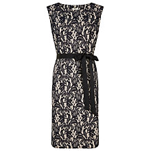 Buy Kaliko Bonded Lace Shift Dress, Multi Navy Online at johnlewis.com