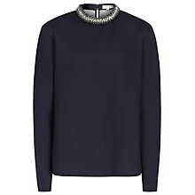 Buy Reiss 1971 Irea Embellished Collar Sweatshirt, Navy Online at johnlewis.com