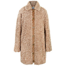 Buy Paisie Fluffy Teddy Bear Coat, Tan Online at johnlewis.com