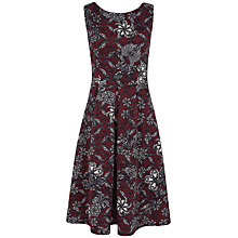 Buy Closet Floral Swirl Scuba Dress, Wine Online at johnlewis.com