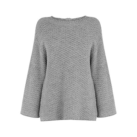Buy Wishbone Martha Chunky Knit Jumper, Pale Grey Online at johnlewis.com