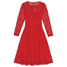 Buy Reiss Rhomona Lace Dress, Ruby Red Online at johnlewis.com