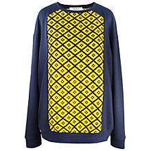 Buy Paisie Diamond Pattern Top, Yellow/Navy Online at johnlewis.com