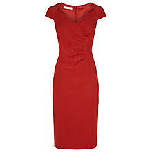 Buy Jacques Vert Satin Back Crepe Dress, Scarlet Online at johnlewis.com