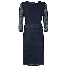 Buy Kaliko Pleat Detail Lace Dress, Navy Online at johnlewis.com