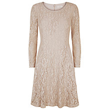 Buy Kaliko Lace Skater Dress, Neutral Online at johnlewis.com