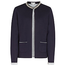Buy Reiss 1971 Flame Embellished Tailored Jersey Jacket, Navy Online at johnlewis.com