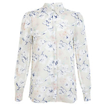 Buy Miss Selfridge Floral Shirt, Ivory Online at johnlewis.com