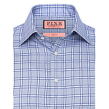 Buy Thomas Pink Slim Fit Double Cuff Brock Check Shirt Online at johnlewis.com
