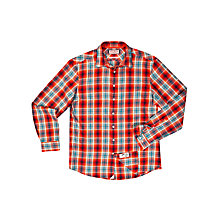 Buy Thomas Pink Bladen Check Shirt, Orange/Blue Online at johnlewis.com