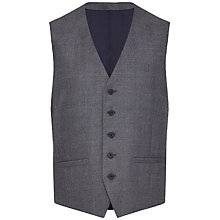 Buy Jaeger Wool Melange Check Waistcoat, Slate Online at johnlewis.com
