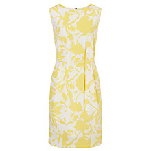 Buy COLLECTION by John Lewis Emilia Sleeveless Cotton Dress, Yellow/White Online at johnlewis.com