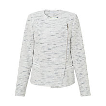 Buy John Lewis Capsule Collection Biker Jacket, White/Blue Online at johnlewis.com