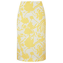 Buy COLLECTION by John Lewis Lunetta Floral Pencil Skirt, Yellow Online at johnlewis.com