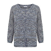 Buy John Lewis Capsule Collection Long Sleeve Space Dye Jumper, Blue Online at johnlewis.com
