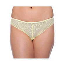 Buy Chantelle Merci Tanga Briefs, Daffodil Online at johnlewis.com