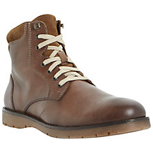 Buy Bertie Collegial Leather Work Lace-Up Boots, Tan Online at johnlewis.com