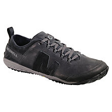 Buy Merrell Excursion Glove Leather Trainers, Black Online at johnlewis.com