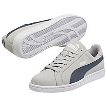 Buy Puma Smash Nubuck Leather Trainers, Grey Online at johnlewis.com