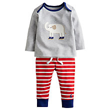 Buy Baby Joule Elephant Jumper & Jogger Set, Grey/Red Online at johnlewis.com