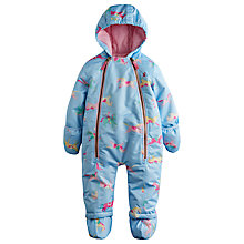 Buy Baby Joule Everly Horse Print Hooded Snowsuit, Blue Online at johnlewis.com