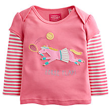 Buy Baby Joule Alyssa Long Sleeve Horse Play T-Shirt, Pink Online at johnlewis.com