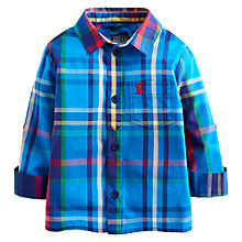Buy Baby Joule Lachlan Long Sleeve Check Shirt, Blue/Multi Online at johnlewis.com