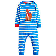 Buy Baby Joule Fife the Fox Stripe Sleepsuit, Blue Online at johnlewis.com