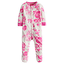 Buy Baby Joule Razamataz Flower Sleepsuit, Cream/Pink Online at johnlewis.com