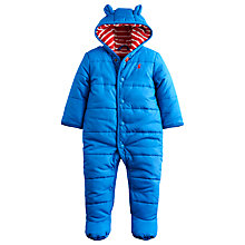 Buy Baby Joule Will Wadded Hood Snowsuit, Blue Online at johnlewis.com