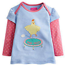 Buy Baby Joule Girls' Alyssa Chicken Applique T-Shirt, Blue/Pink Online at johnlewis.com