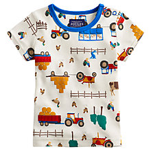 Buy Baby Joule Scenewell Tractor Short Sleeve T-Shirt, Cream Online at johnlewis.com