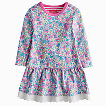 Buy Baby Joule Lace Trim Floral Jersey Dress, Purple/Multi Online at johnlewis.com