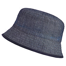 Buy Baby Joule Boys' Reversible Chambray Sun Hat Online at johnlewis.com