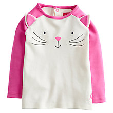 Buy Baby Joule Catrin Cat T-Shirt, Cream/Pink Online at johnlewis.com