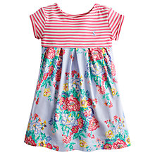 Buy Little Joule Girls' Emmie Stripe & Floral Print Dress, Blue/Pink Online at johnlewis.com