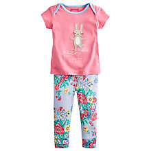Buy Baby Joule Winn Rabbit Top & Trousers, Pink Online at johnlewis.com