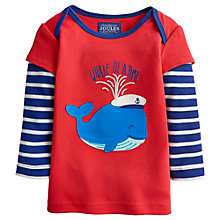 Buy Baby Joule Seaside Whale Top, Red Online at johnlewis.com