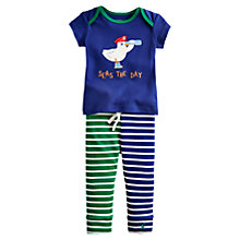 Buy Baby Joule Doodle Seagull T-Shirt & Leggings, Navy Online at johnlewis.com