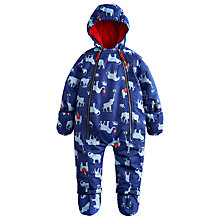 Buy Baby Joule Charlie Elephant Print Snowsuit, Blue Online at johnlewis.com