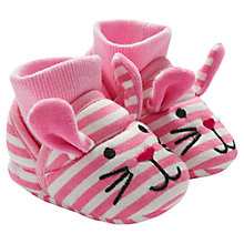 Buy Baby Joule Nipper Mouse Booties, Pink Online at johnlewis.com