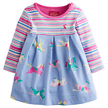 Buy Baby Joule Haley Horse Dress, Blue/Pink Online at johnlewis.com