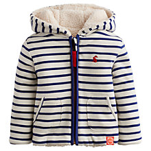 Buy Baby Joule James Reversible Zip Hoodie, White/Navy Online at johnlewis.com