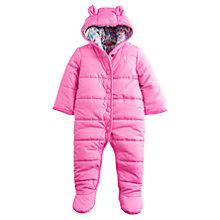 Buy Baby Joule Kate Snowsuit, Pink Online at johnlewis.com