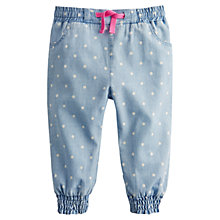 Buy Baby Joule Lizzie Spot Chambray Trousers, Blue Online at johnlewis.com