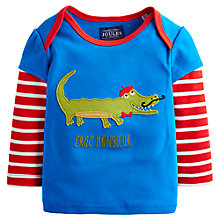 Buy Baby Joules Croc Monsieur Long Sleeve T-Shirt, Blue Online at johnlewis.com