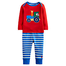 Buy Baby Joule Byron Tractor Top & Leggings Set, Red/Blue Online at johnlewis.com